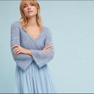 Anthropologie Maeve Dress with Tule Skirt